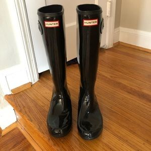 Hunter Original Tall Rain Boots - Glossy Black